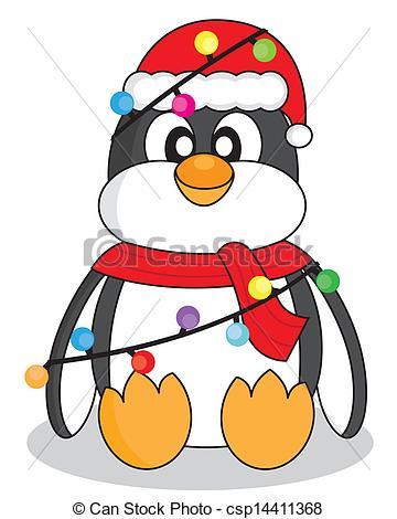 Illustration clipart christmas Vector christmas lights dressed Clip