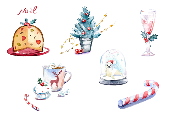 Illustration clipart christmas On clipart clipart Watercolor masha