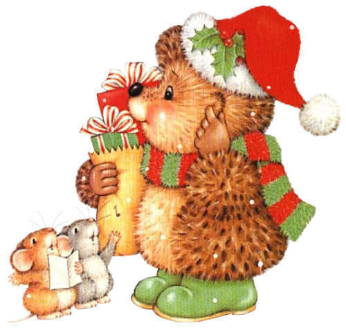 Illustration clipart christmas Morehead Tubes Tiernas  color