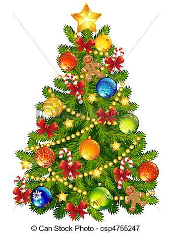 Illustration clipart christmas Tree csp4755247 of Illustration