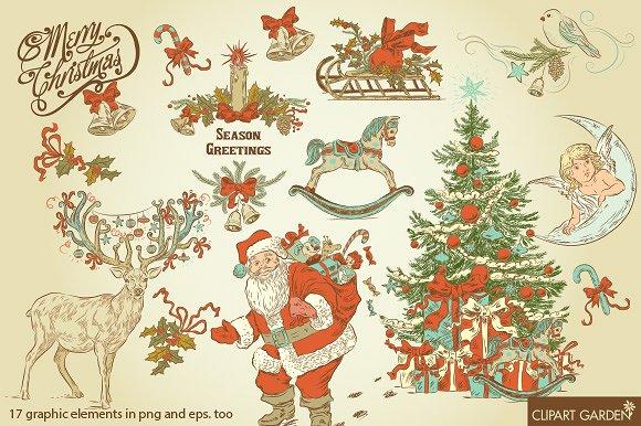 Illustration clipart christmas Style CHRISTMAS Illustrations Creative Illustrations