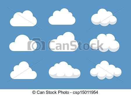Illustration clipart cloud shape Different shapes shaped of of