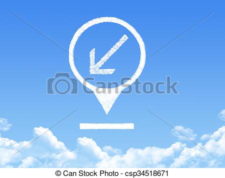 Illustration clipart cloud shape Illustrations location csp34518671 cloud Stock