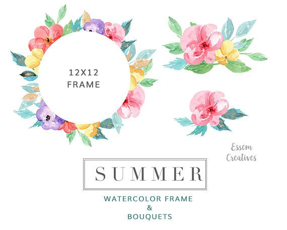 Illustration clipart colorful flower Wreath on Clip Graphics Pinterest