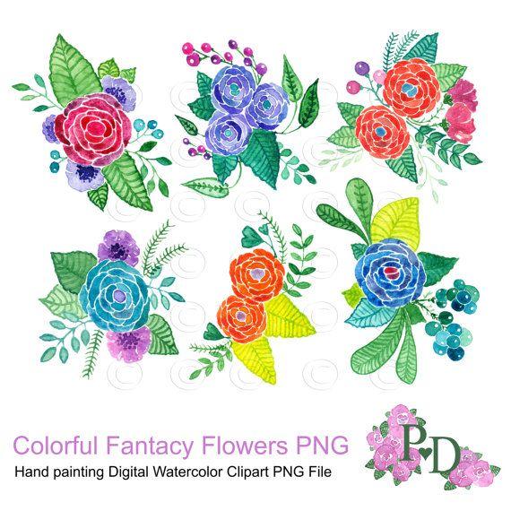 Illustration clipart colorful flower File easyprintPD EasyPrintPD Clipart Flowers