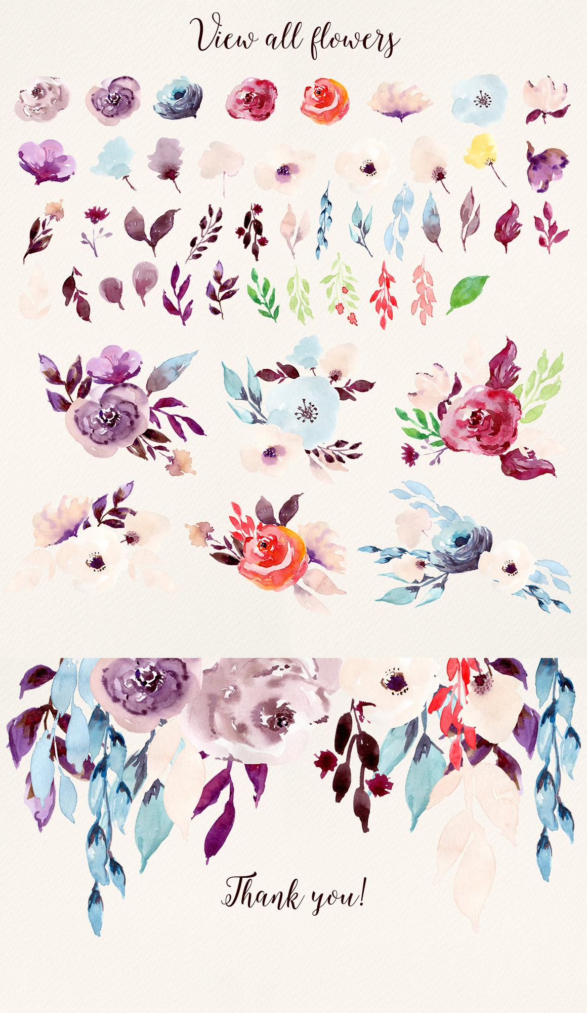 Illustration clipart colorful flower Flowers Cold Flowers Clip art