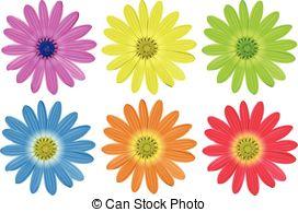 Illustration clipart colourful flower White flowers Colourful flowers; Colourful