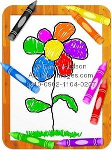 Illustration clipart colourful flower Colourful of Colourful Drawing Illustration