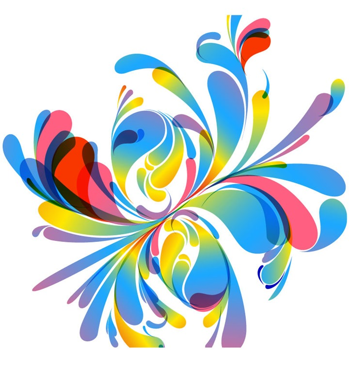 Illustration clipart colourful flower Vector Vector Free Vector Abstract