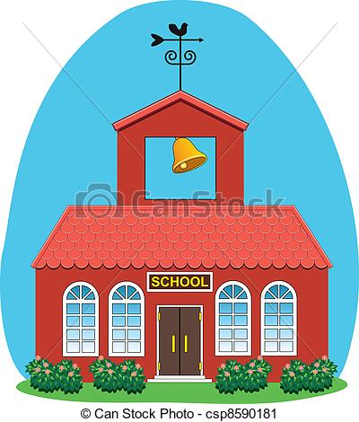 Illustration clipart country house Art of school vector vector