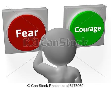 Illustration clipart courage Show  Illustration Unafraid Courage