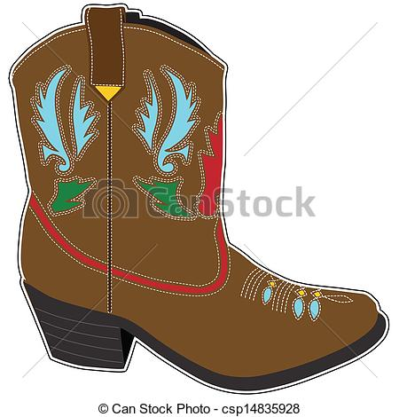 Illustration clipart cowboy Single Cowboy Short  Boots