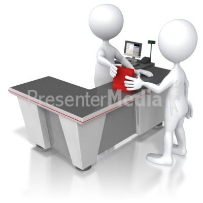 Illustration clipart customer service retail 5561 Clipart Five Check Out