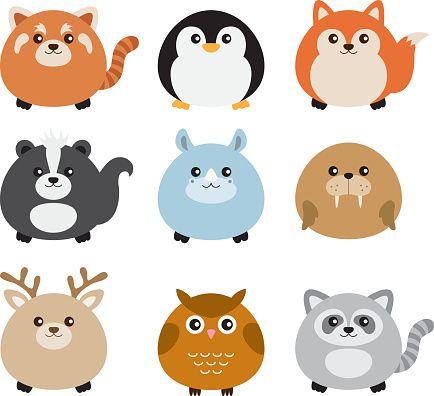 Illustration clipart three Cute vector Animal on art