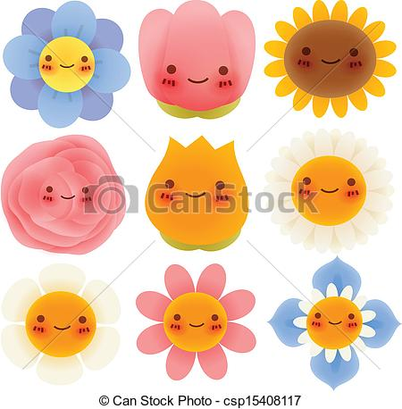 Illustration clipart cute flower Csp15408117 of Flowers Flowers Vector