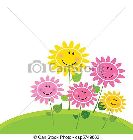 Illustration clipart cute flower Csp5749882 Flower Garden Cute flower