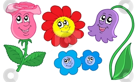 Illustration clipart cute flower Flowers Cute stock collection vector