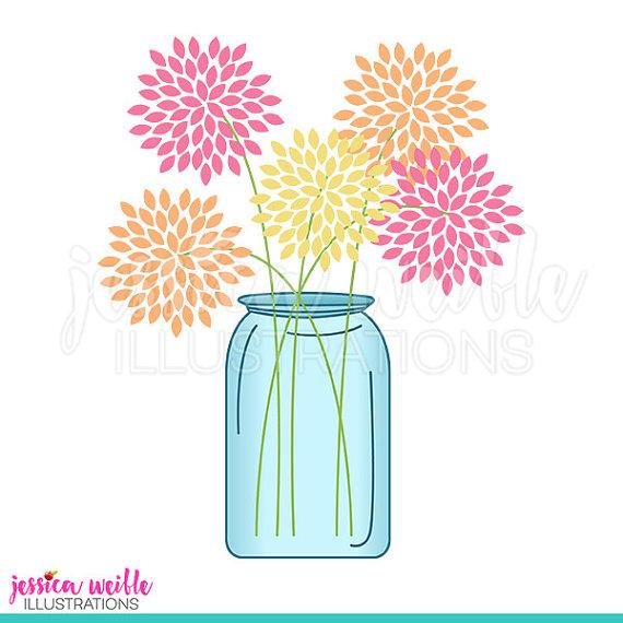 Illustration clipart cute flower Jar Cute art Flowers Cute