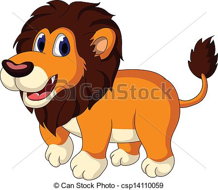 Illustration clipart cute lion Walking cute Vector vector cartoon