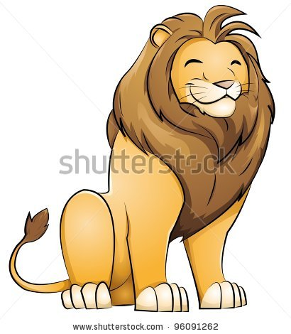 Illustration clipart cute lion Vector smiling sitting clip smiling