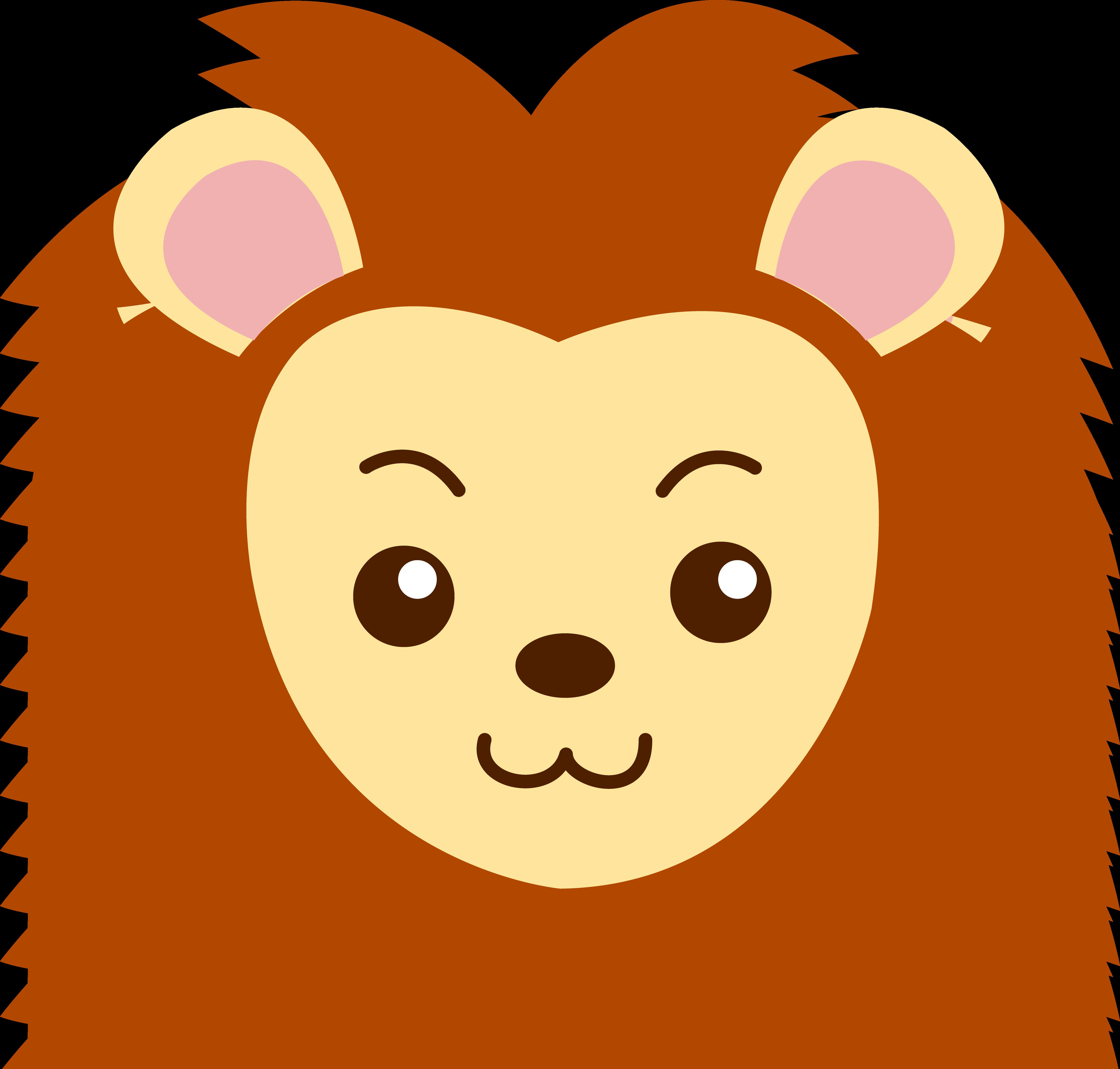Illustration clipart cute lion Face 292KB Masks clip Comedy