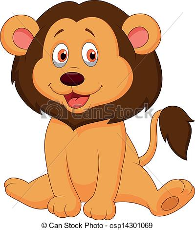 Illustration clipart cute lion Lion of Art cartoon cartoon