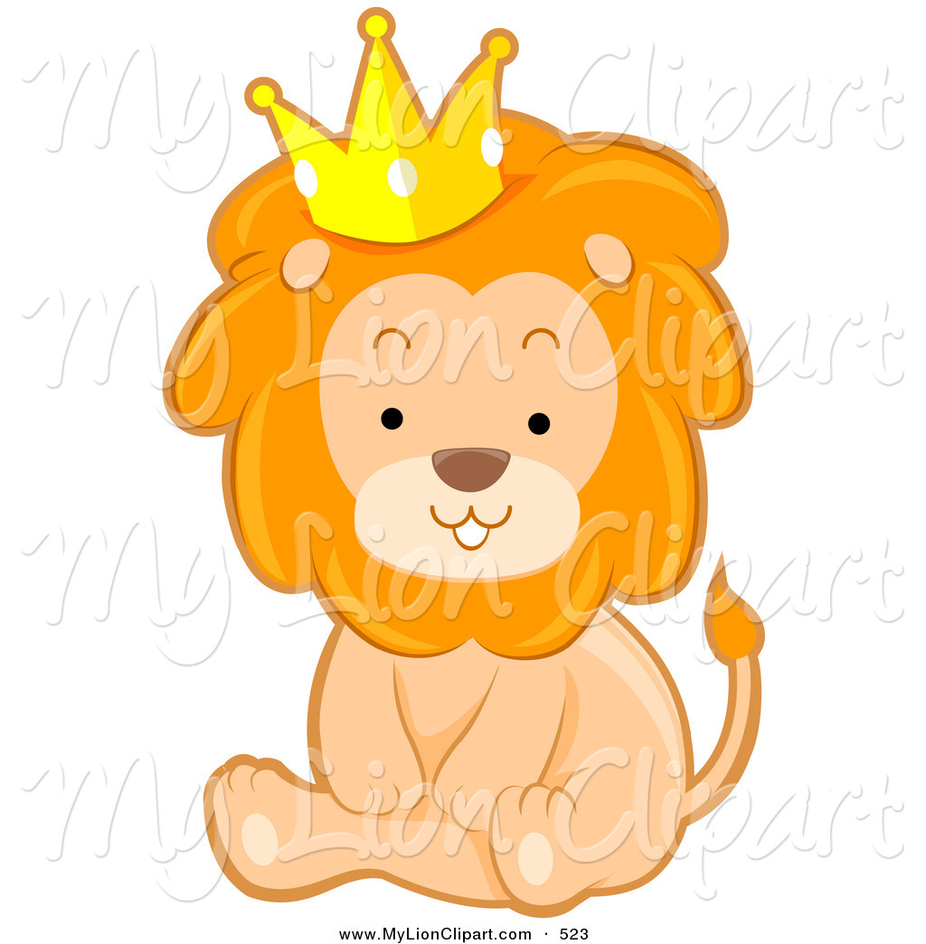 Illustration clipart cute lion And Cute a Wearing Cute