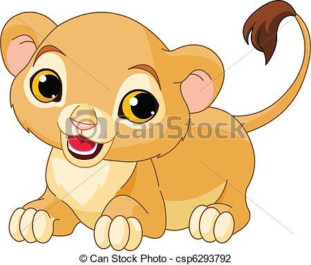 Illustration clipart cute lion Cute Lion of Lion csp6293792