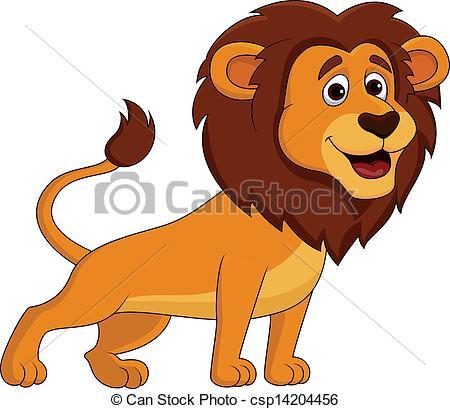 Illustration clipart cute lion Illustration lion of of csp14204456