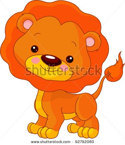 Illustration clipart cute lion Cute zoo : Lion Lion