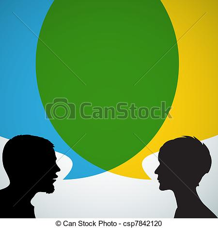 Illustration clipart dialogue Big with csp7842120 silhouettes Abstract