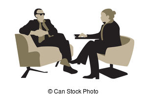 Illustration clipart dialogue The in and man