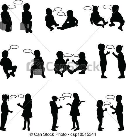 Illustration clipart dialogue Art Clip EPS children Vector