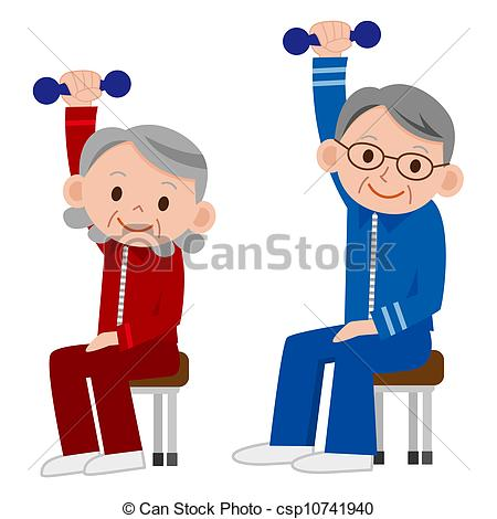 Illustration clipart exercise Art csp10741940 Exercising Drawing Clip