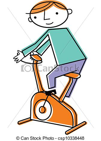 Bicycle clipart stationary bike Bike on csp10338448 csp10338448 Man
