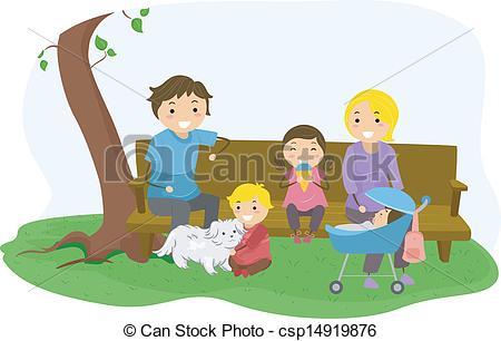 Illustration clipart family bonding Vector Bonding Clip of Bonding