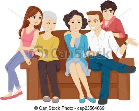 Illustration clipart family bonding Bonding a of Illustration csp23564669