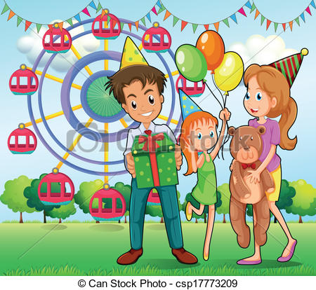 Carneval clipart happy Csp17773209 Vector the A of