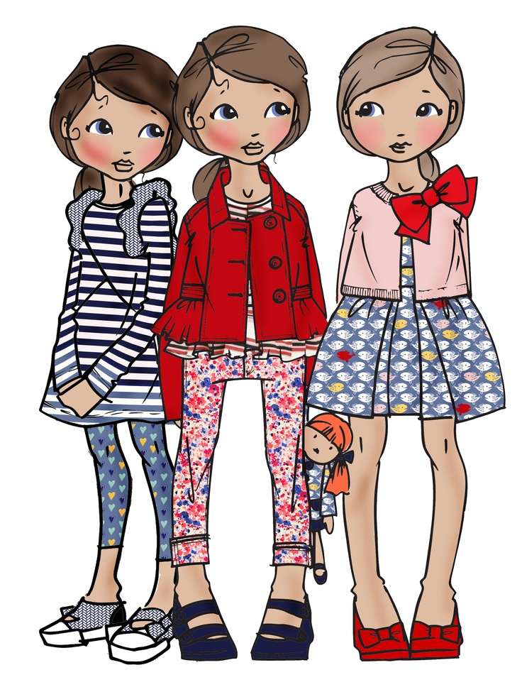Illustration clipart fashion IllustrationsGirl Cruise ss14 on cruise