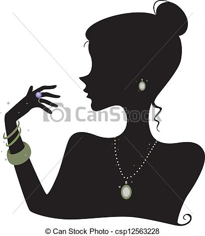 Illustration clipart fashion Featuring Silhouette Accessories royalty Silhouette