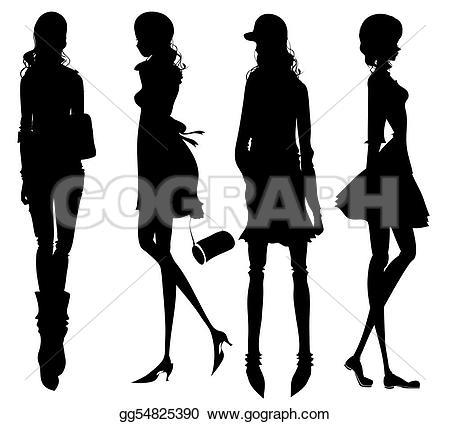 Illustration clipart fashion Girls of Drawing Illustration girls