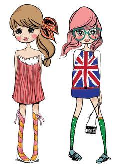 Illustration clipart fashion Vector girl shopping  Illustration