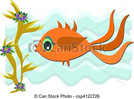 Illustration clipart fish swimming Pretty  of Fish Art