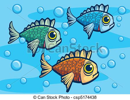 Line Art clipart fish swimming Underwater A Fish Vector of