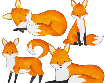 Illustration clipart fox  Laurie Animal Clipart Clipart