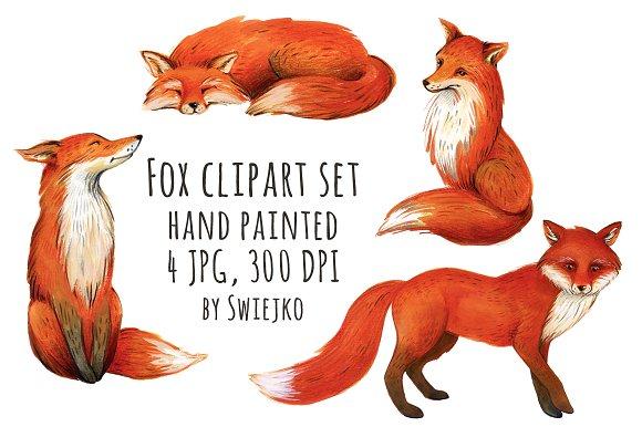 Illustration clipart fox Fox Illustrations clipart on Illustrations