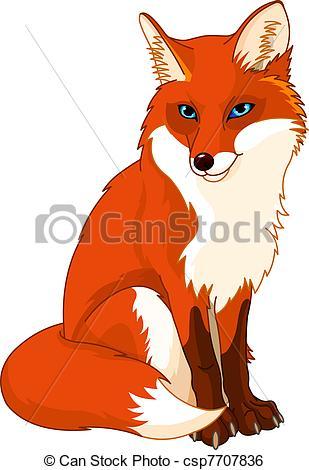 Illustration clipart fox Cute fox  csp7707836 Illustration