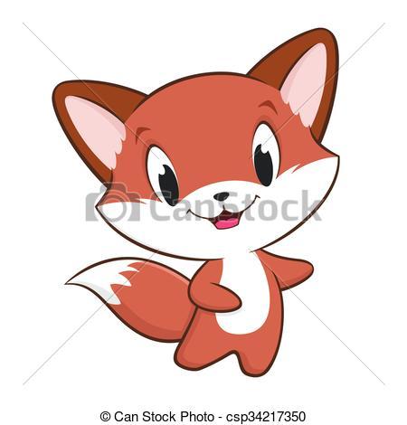 Illustration clipart fox Vector Cartoon Baby Clipart of