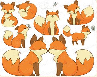 Illustration clipart fox Little Fox Art Drawings Cute