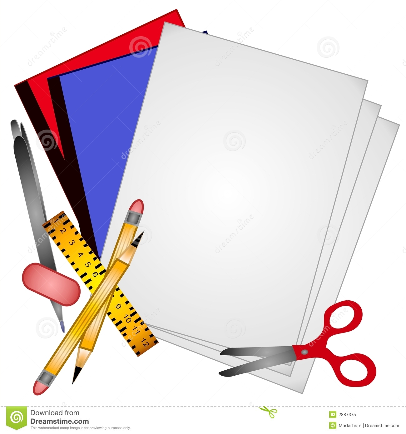Pen clipart school supply Clip Free Clip Things Download
